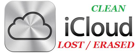 iCloud Status CLEAN or LOST