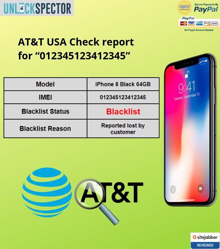 AT&T USA Check sample report