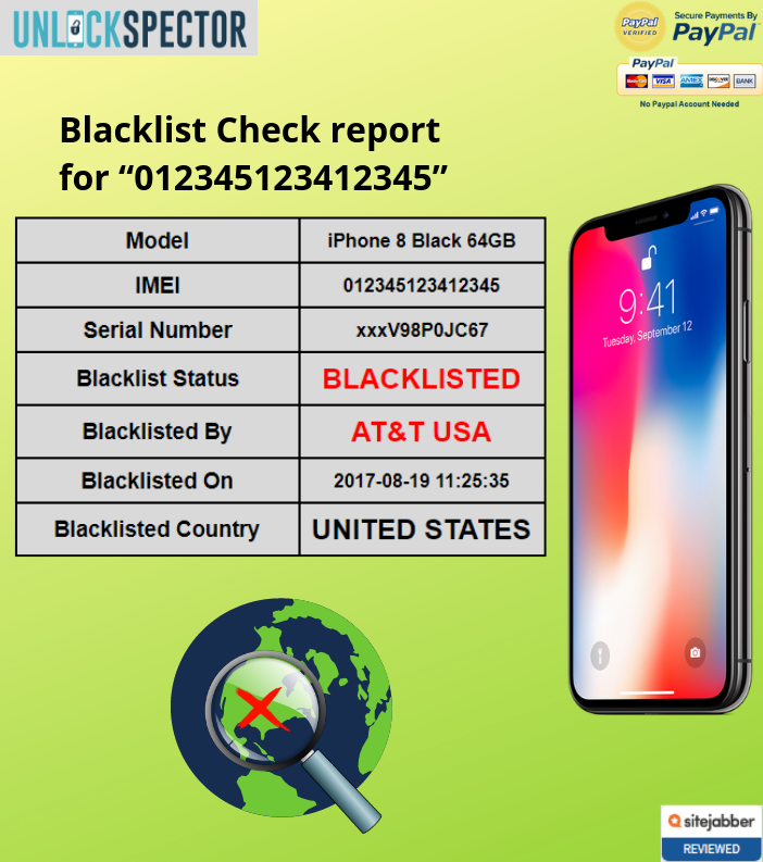 Blacklist Check sample report