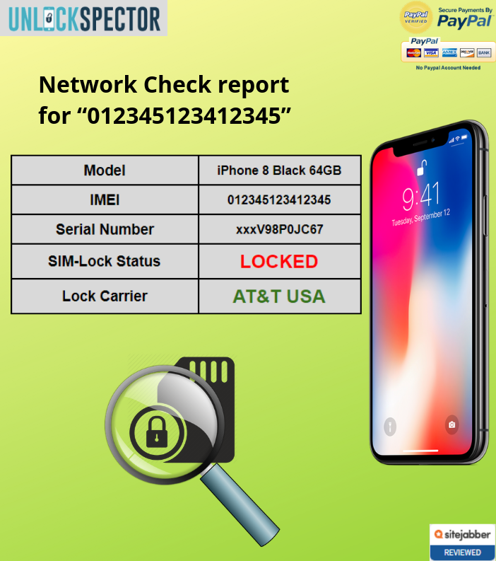 Network Carrier Check sample report