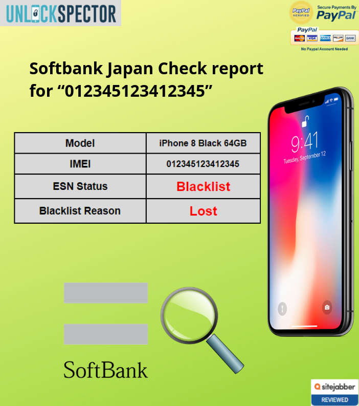 Softbank Japan Check sample report
