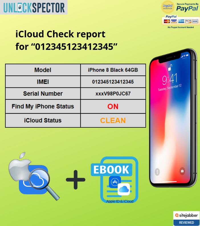 iCloud Check sample report