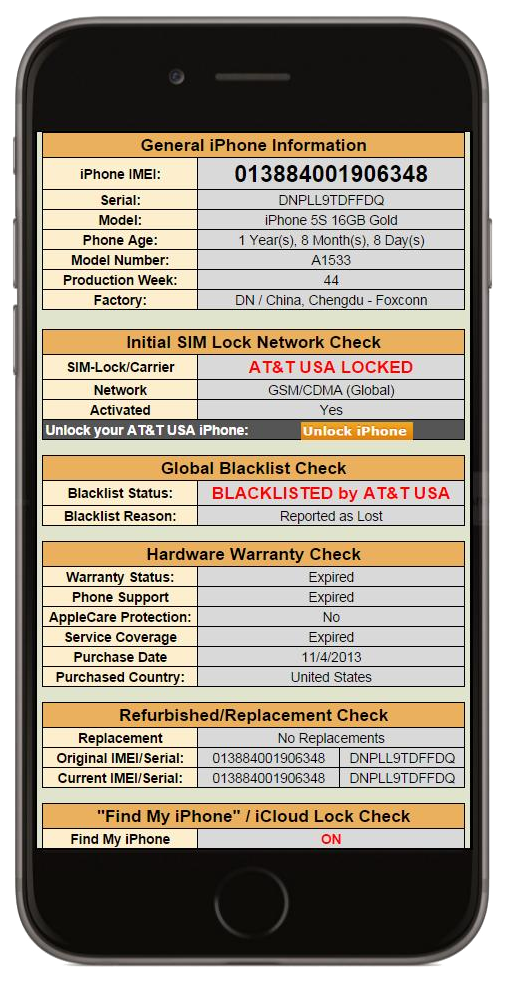 iPhone IMEI Check - Check your iPhone's IMEI with UnlockSpector